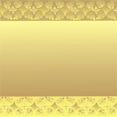 tło ze złotym ornamentem