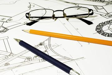 drawing and glasses
