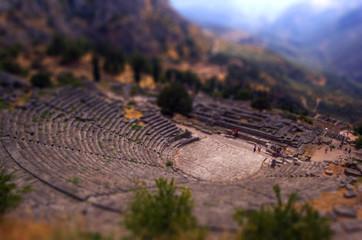 anfiteatro di Delfi in grecia, effetto plastico