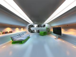 Futuristic modern interior