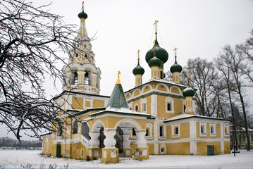 Church of the Nativity of John the Baptist in Winter