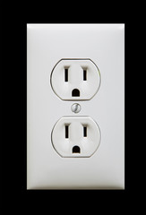 white electric outlet