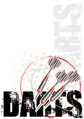 darts circle poster background 2
