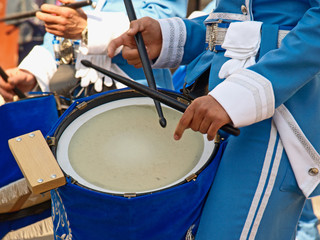 drummer in a parade