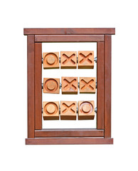 A Wooden Frame for Playing Noughts and Crosses.