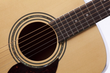 Guitar Acoustic Close Isolated White