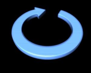 flèche circulaire