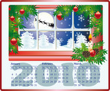 Beautiful calendar for 2010, January, February, March. vector poster