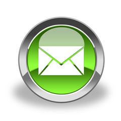 e-mail icon & button, green and glossy