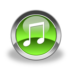 note, music, mp3 icon & button