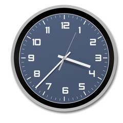 clock, stylish and modern , blue-black-white