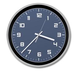 clock, stylish and modern , blue-black-white