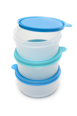 Set round plastic container