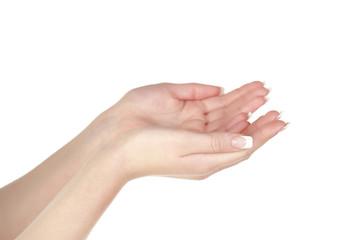 Two hands gesture