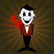 cartoon retro mann comic blut