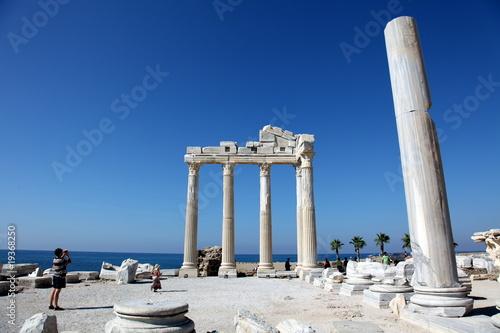 Ancient Temple fo Apollo on the Mediterranien Sea