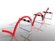 Hürde rot Pfeil Erfolg hurdle red arrow success