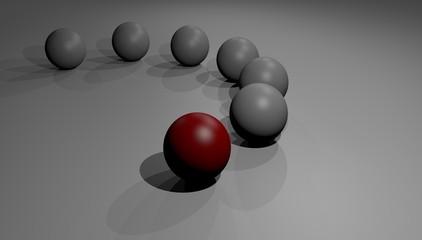conceptual image of competitive advantage competition