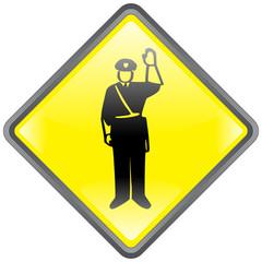 Panneau POLICE Stop Halte Contrôle Policier Circulation Vecteur