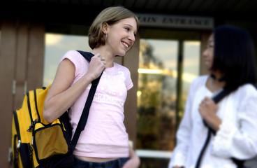 Teenage girls talking