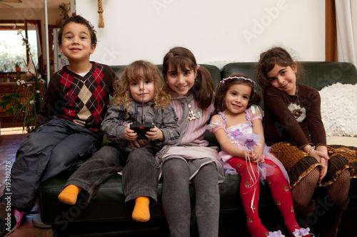 Petit groupe d'enfants.