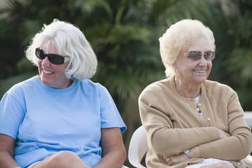 Senior women relaxing
