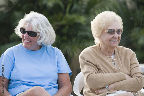 Senior women relaxing