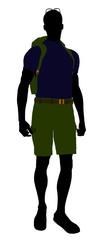 Male Hiker Silhouette