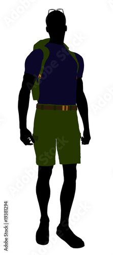 Male Hiker Silhouette