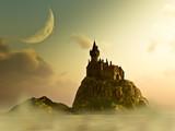 Island Castle Sunrise