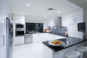 Modern kitchen in luxury mansion