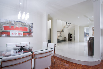 Luxury home dining room interior