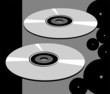 Illustration of two compact discs