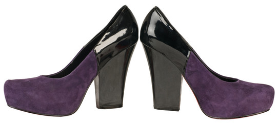 Violet female shoes.