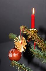 dekoration am weihnachtsbaum