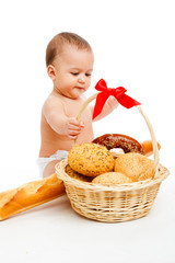 Baby and bread