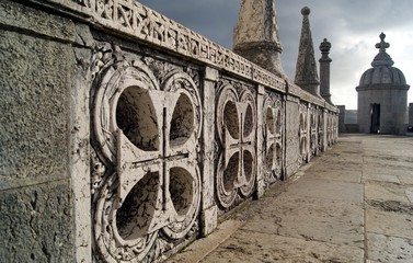 View of the central square , Belem Tower, Lisbon, Portugal