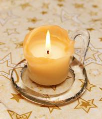 Candle Christmas - Weihnachts Kerze Nahaufnahme