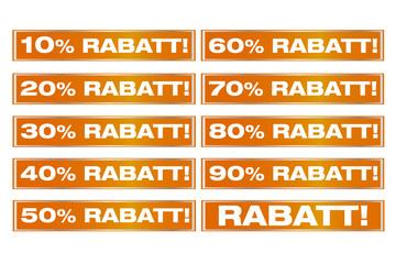 Sticker Rabatte satt