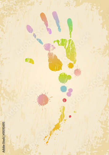 Side effect of сreative activity. Vector image in a grunge style