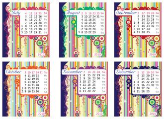 Calendar 2010 part 2