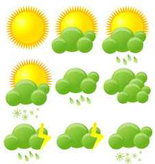 Eco weather icons