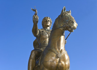 Statue of Alexander the Great at Pella in Greece