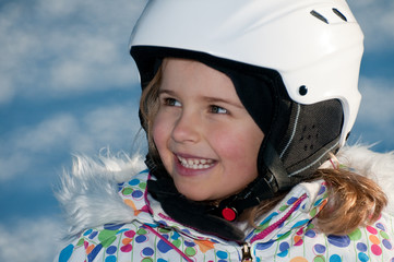 Cute little skier  portrait