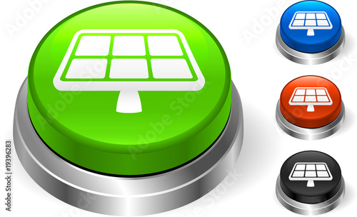 Solar Panel Icon on Internet Button