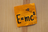 Einstein equation nailed poster
