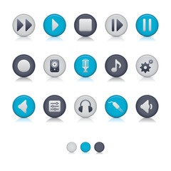 Matte Circle Icons - Audio Soft