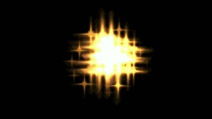 Fiery flicker golden stars - digital animation