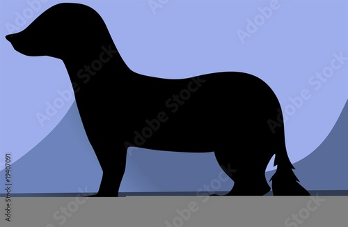 Illustration of a silhouette of a mongoose