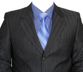 Man's traditional clothes - a jacket, a shirt, a tie.